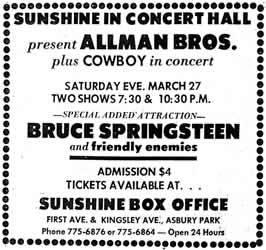 Bruce Springsteen & the Friendly Enemies